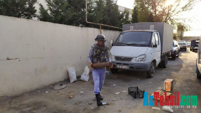 Bakıda məktəbin yanında bomba tapıldı