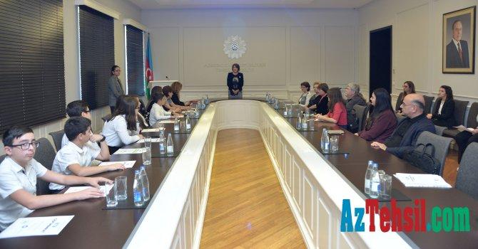 """""""TRİZ Kuboku -2019"""" beynəlxalq müsabiqəsinin iştirakçıları ilə görüş keçirilib"""