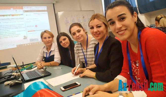 Müəllimlər İsraildə STEM təlim kursunda