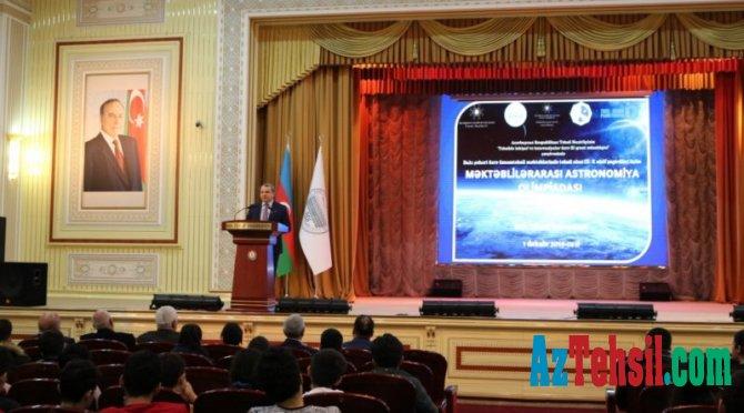 BDU -da Məktəblilərarası Astronomiya Olimpiadası öz işinə başlayıb