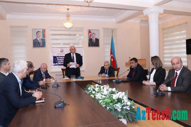 """Azərbaycan Texniki Universitetində """"İnnovativ Univesitetlər""""  mövzusunda  dəyirmi masa təşkil olunub"""