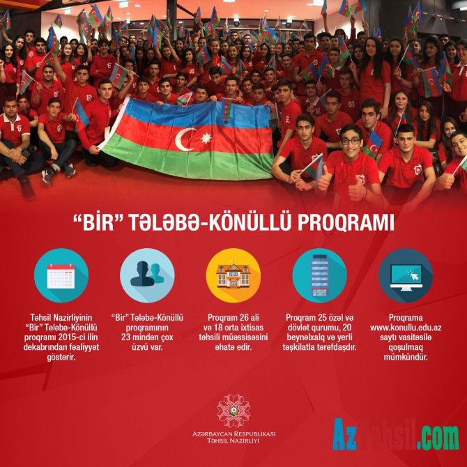 """""""Bir"""" Tələbə-Könüllü proqramı"""