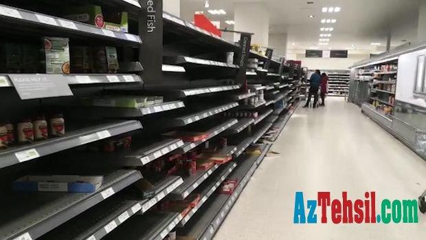 """Türkiyədə təhsil alan azərbaycanlı tələbə: """"Böyük supermarketlərdə ərzaq tükənib"""""""