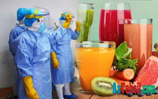 Koronavirusdan qorunmaq üçün bunları için: meyvə şirəsi, zəncəfilli çay...