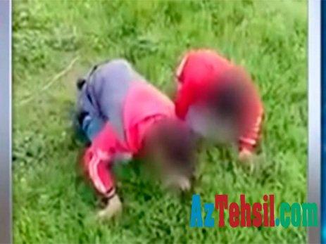 Uşaqlara ot yedirdən şəxs cərimələndi