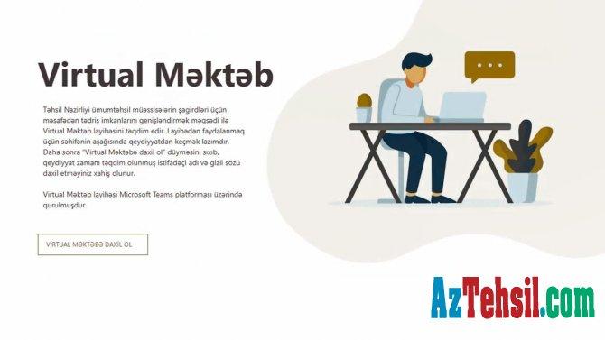 """""""Virtual məktəb"""" layihəsində müəllimlərin də qeydiyyatı başladı"""