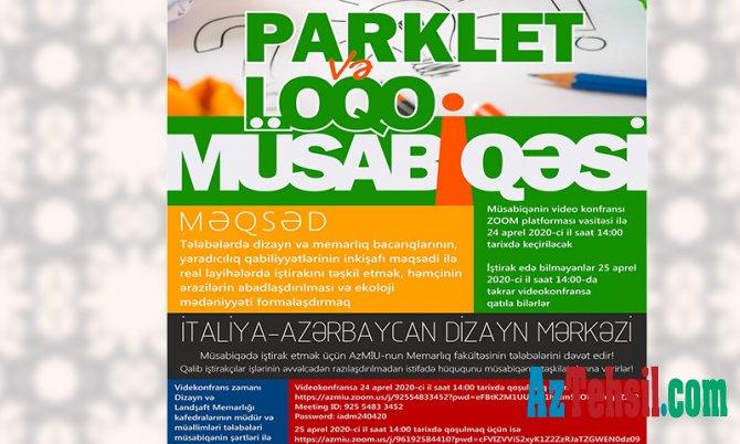 İtaliya-Azərbaycan Dizayn Mərkəzinin tələbələr üçün müsabiqəsi