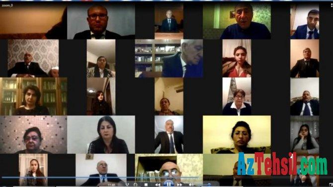 NDU-da növbəti onlayn seminarı Azərbaycan Dövlət Pedaqoji Universitetinin professoru keçib