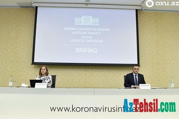 Azərbaycanda koronavirusla bağlı son vəziyyət açıqlanır - CANLI YAYIM