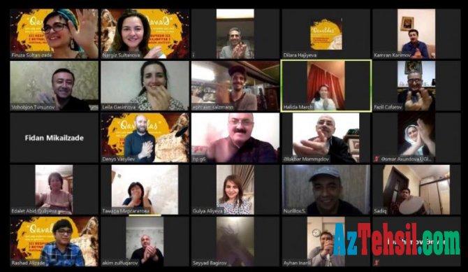 """""""Qavaldaş"""" uşaq və gənclərin III Respublika və I Beynəlxalq onlayn festival-müsabiqəsinin final mərhələsi"""