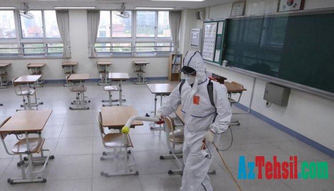 Cənubi Koreyada məktəblərin açılması təxirə salınıb
