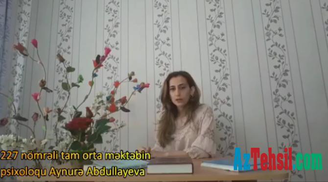 """""""Məktəb psixoloqundan tövsiyələr"""": XVI videoçarx"""