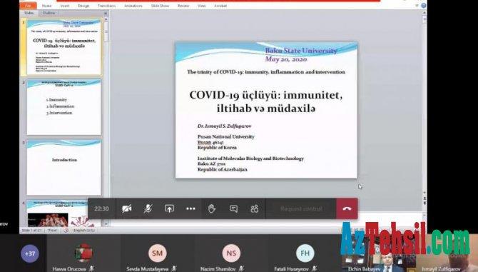 """""""COVID-19 üçlüyü: immunitet, iltihab və müdaxilə"""" mövzusunda ustad dərsi"""