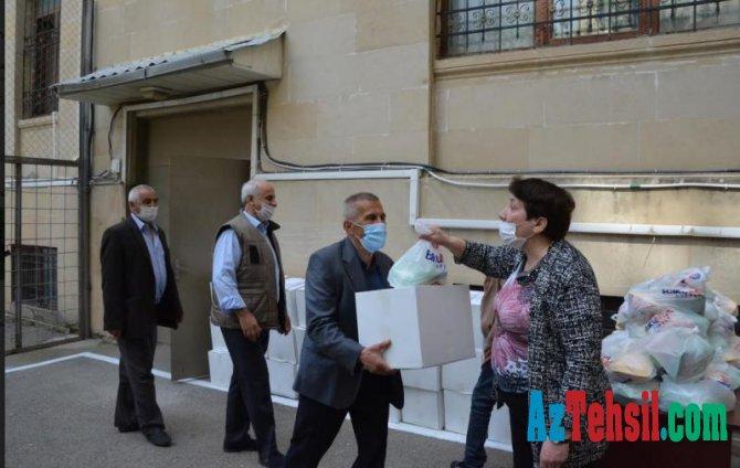 Fizika İnstitutundan sosial vəziyyəti aşağı olan insanlara ərzaq yardımı