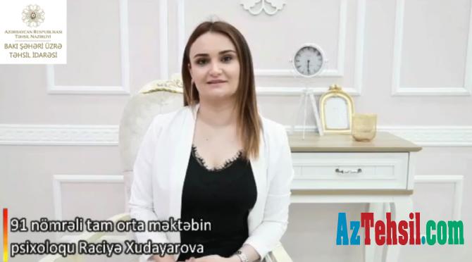 """""""Məktəb psixoloqundan tövsiyələr"""": XXVII videoçarx"""