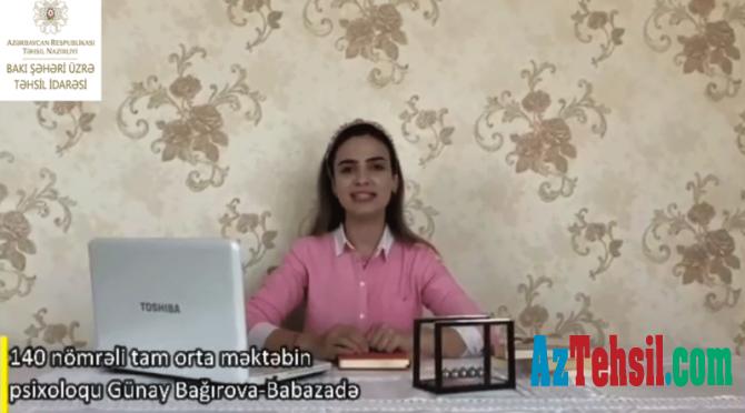 """""""Məktəb psixoloqundan tövsiyələr"""": XXX videoçarx"""