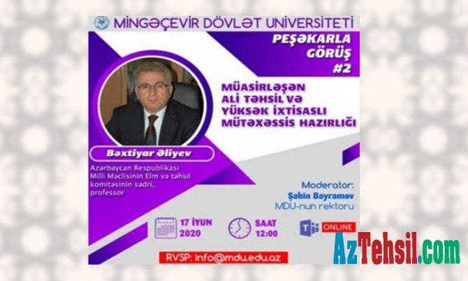 """MDU-da """"Peşəkarla görüş"""" layihəsi çərçivəsində növbəti tədbir keçiriləcək"""