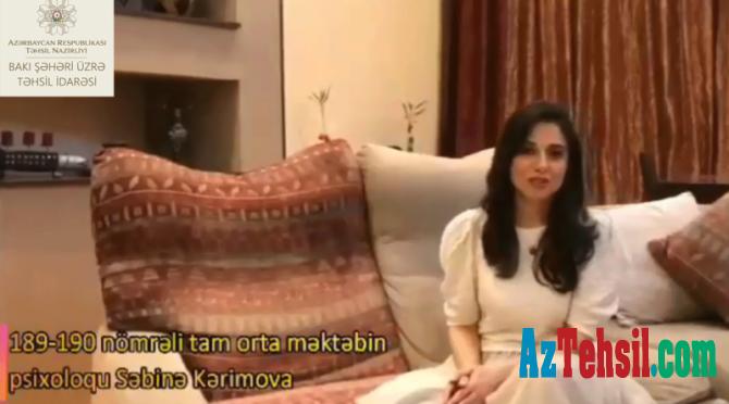 """""""Məktəb psixoloqundan tövsiyələr"""": XXXII videoçarx"""