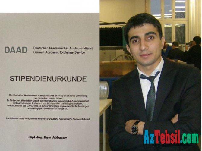 Gənc müəllim Almaniyanın nüfuzlu doktorantura təqaüdünü qazanıb