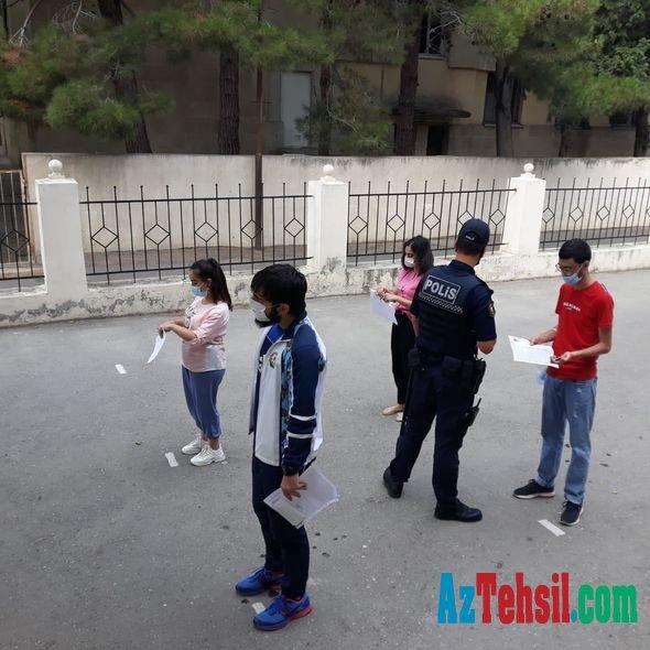 Bakı polisindən imtahanlarla bağlı AÇIQLAMA