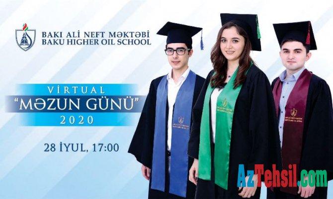"""Bakı Ali Neft Məktəbində """"Virtual Məzun Günü"""" keçirildi"""