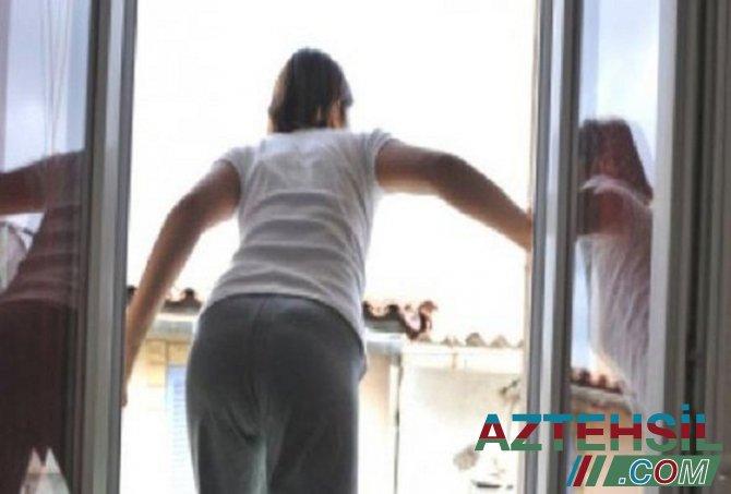 Bakıda 27 yaşlı müəllim özünü binadan atdı - FOTO