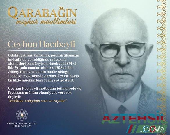 """""""Qarabağın məşhur müəllimləri"""" - Ceyhun Hacıbəyli"""
