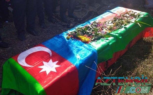 Salyanda şəhid dəfn olunub - FOTO