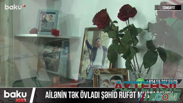 """Şəhid anası: """"Azad olunmuş torpaqlarda gəzənlər bilsinlər ki, Rüfətimin qanı oradadır"""" - VİDEOREPORTAJ"""