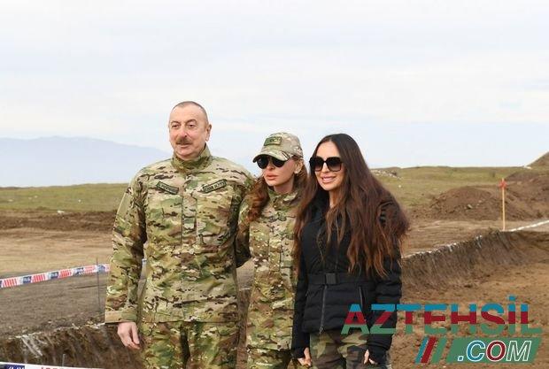 İlham Əliyev və Mehriban Əliyeva işğaldan azad olunan ərazilərdə