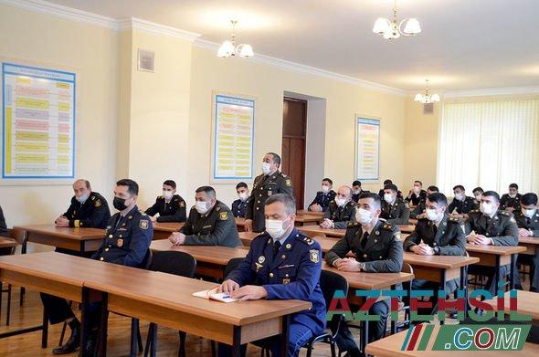 Ali Hərbi Məktəbin kursantları üçün seminar keçirilib