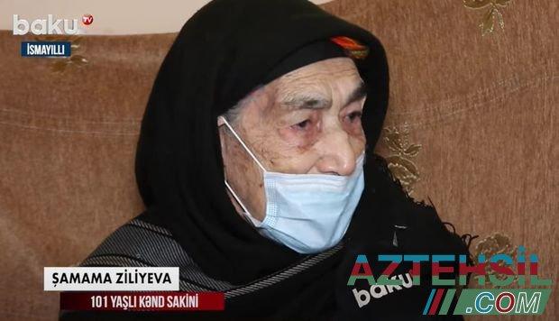 Azərbaycanda 101 yaşlı qadın COVID-19-a qarşı peyvənd olundu - VİDEO