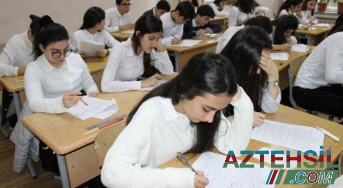 Sabahdan tam orta təhsil səviyyəsi üzrə buraxılış imtahanlarına başlanılır