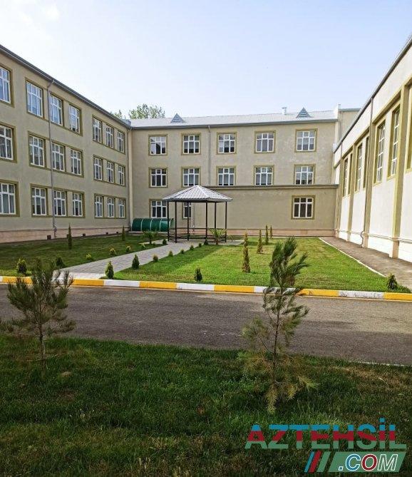 Şirvanda 21 nömrəli tam orta məktəbin binasının inşası başa çatıb-FOTO