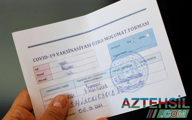 Xəbərdarlıq: COVID pasportunu rüşvətlə almaq istəyənlərin nəzərinə