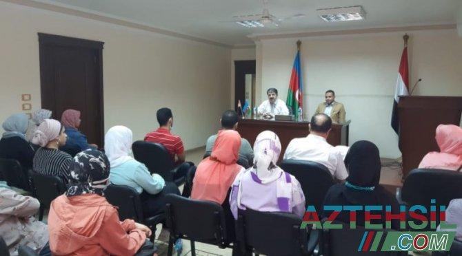 Misirdə Azərbaycan dili kurslarının yeni müdavimləri ilə görüş keçirilib