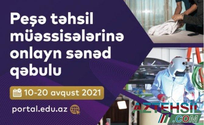 2021-2022-ci tədris ili üzrə peşə təhsili müəssisələrinə tələbə qəbulu davam edir
