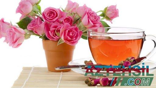 Qızılgül ləçəklərindən hazırlanan çayın faydaları