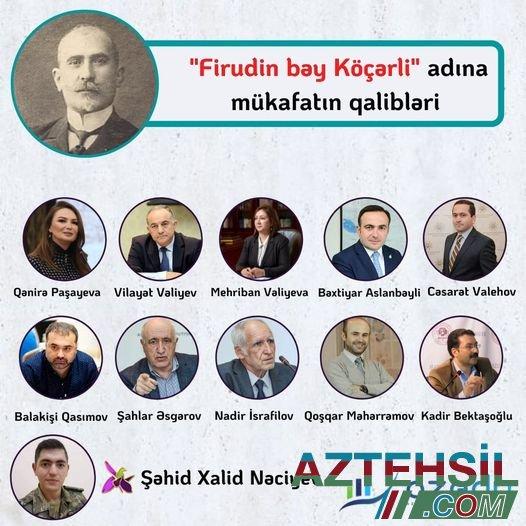 """""""Firudin bəy Köçərli"""" mükafatının qalibləri - SİYAHI"""